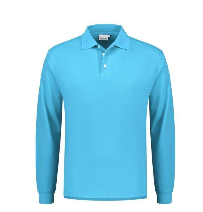 Santino Matt Polo-shirt lange mouwen L blauw