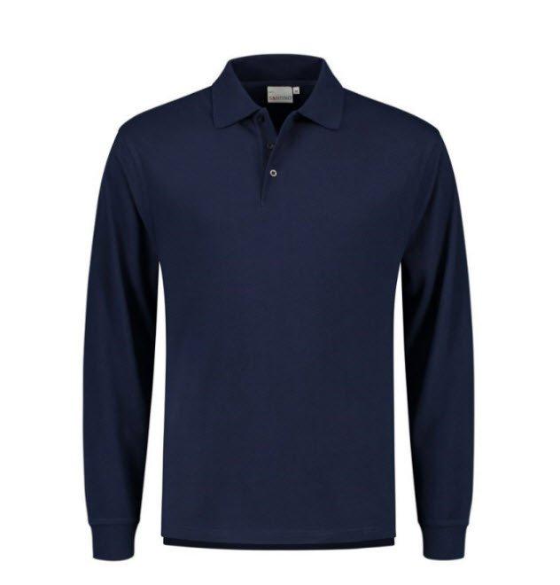 Santino Matt Polo-shirt lange mouwen marin