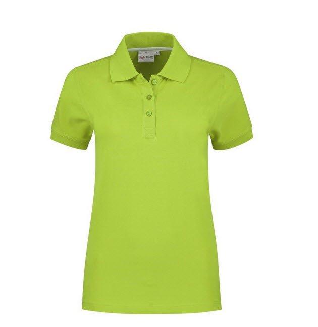 Santino Mojo Dames Polo-shirt korte mouwen - Stretch limegroen