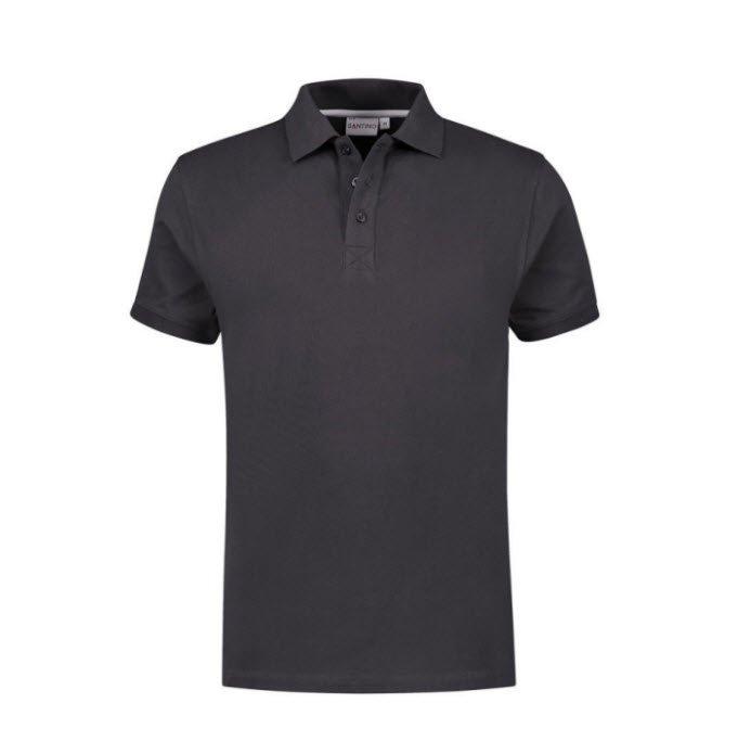 Santino Mojo Polo-shirt korte mouwen - Stretch D grijs
