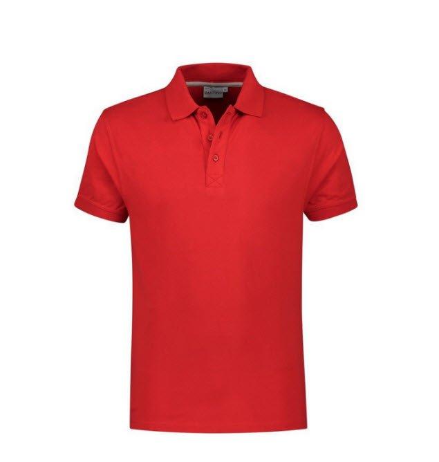 Santino Mojo Polo-shirt korte mouwen - Stretch rood