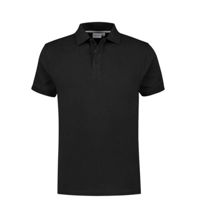 Santino Mojo Polo-shirt korte mouwen - Stretch zwart