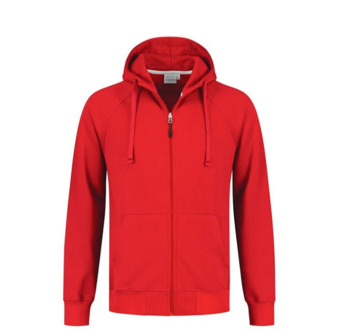 Santino Rens Hooded sweater lange mouwen rood