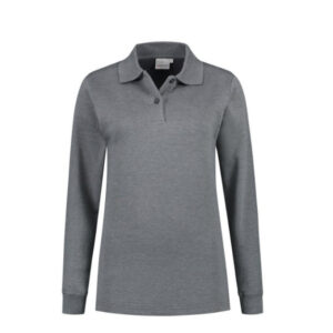 Santino Rick Dames Polo sweater lange mouwen grijs