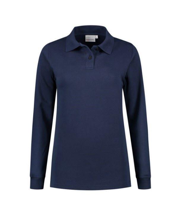 Santino Rick Dames Polo sweater lange mouwen marine