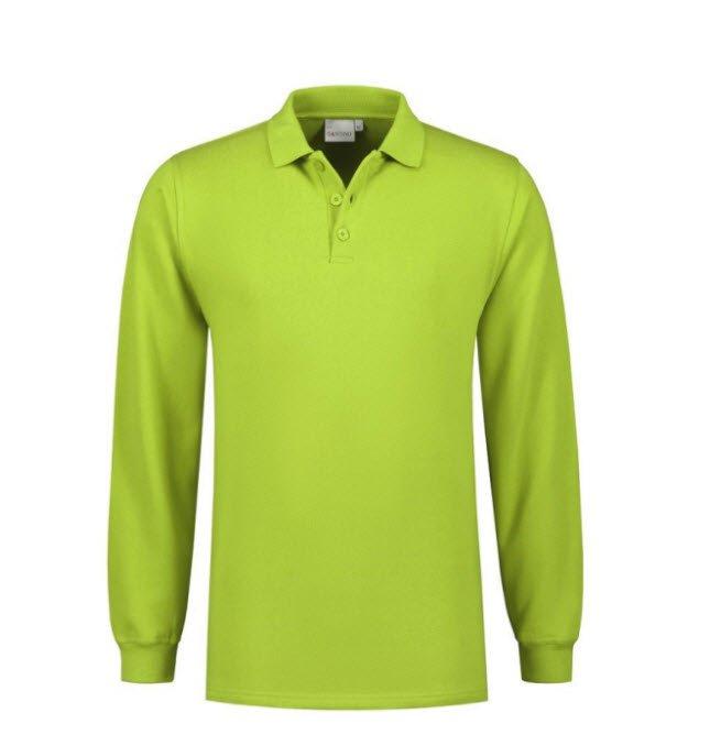 Santino Rick Polo sweater lange mouwen limegroen