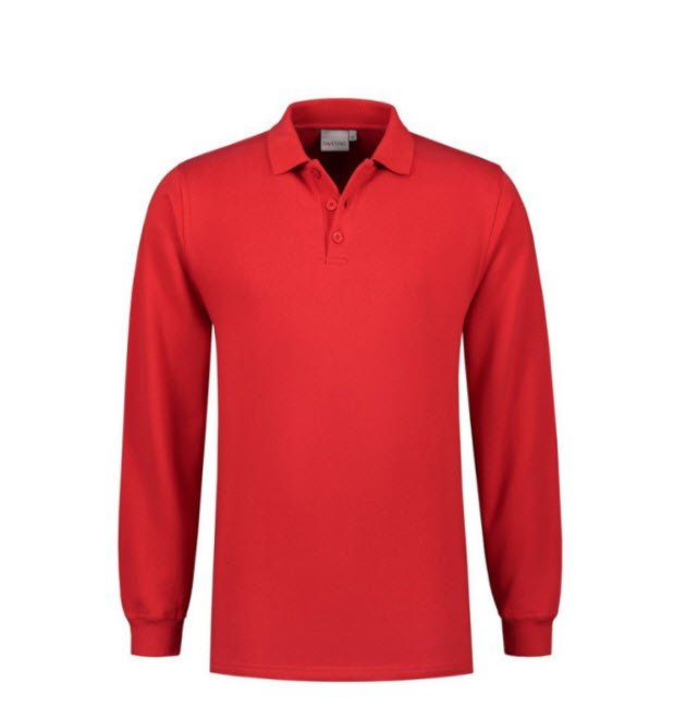Santino Rick Polo sweater lange mouwen rood