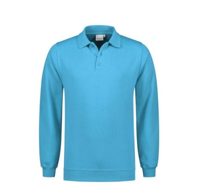 Santino Robin Polo Sweater lange mouwen L blauw