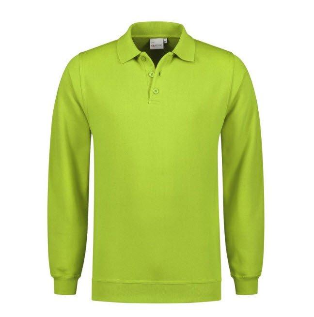 Santino Robin Polo Sweater lange mouwen Limegroen