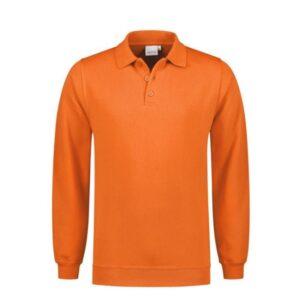 Santino Robin Polo Sweater lange mouwen Oranje