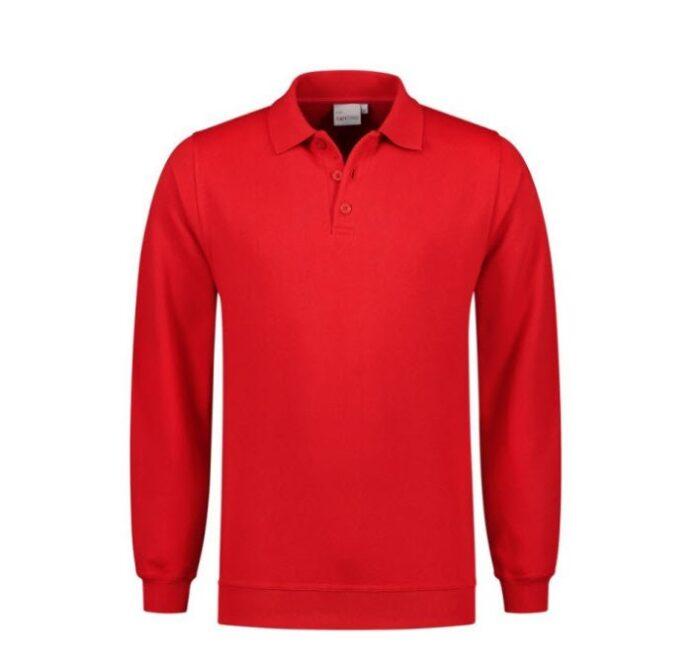 Santino Robin Polo Sweater lange mouwen rood