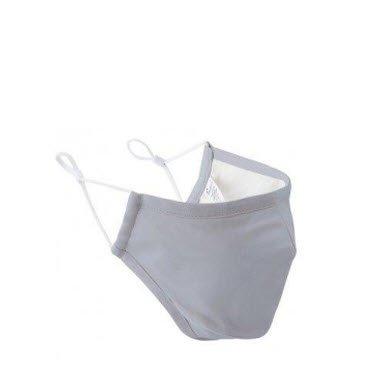Mondmasker wasbaar, 3 lagen met carbon filter optie zilver