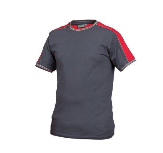 Saratex T-shirt Sternik Grijs-rood (14-318)