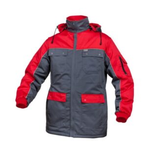 Saratex Winter Parka Sternik grijs-rood (07-218)