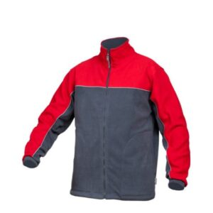Saratex fleece jas Sternik grijs-rood (04-518)