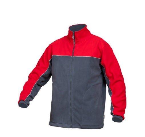 Saratex fleece jas Sternik grijs-rood (04-518)