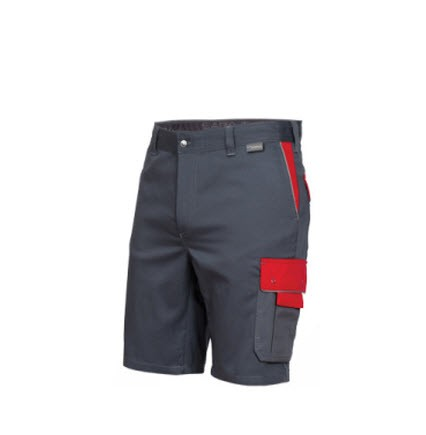 Saratex korte werkbroek Sternik (04-018) grijs-rood