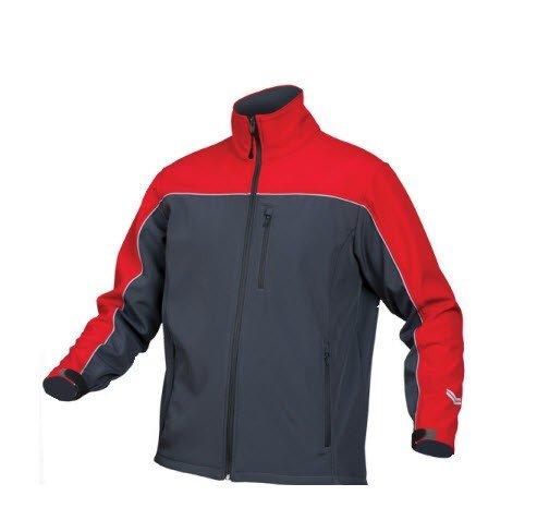 Saratex softshell jas Sternik grijs-rood (01-618)