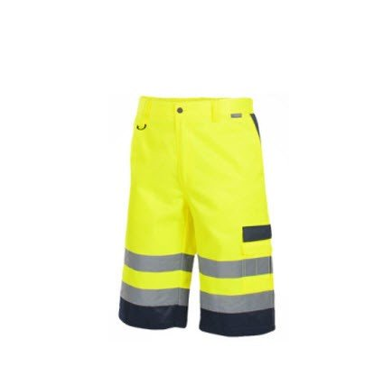 Saratex Drogowiec korte werkbroek (11-020) Yellow