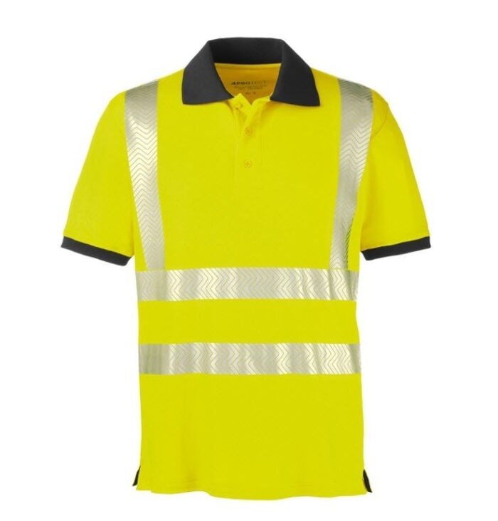 4Protect Hi-Vis Polo t-shirt Orlando geel