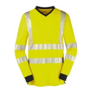 4Protect Hi-Vis Shirt v-hals lange mouw Jackson geel