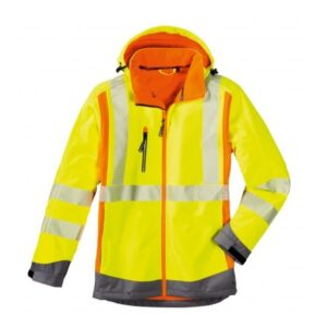 4Protect Hi-Vis signaal softshell jack Houston geel