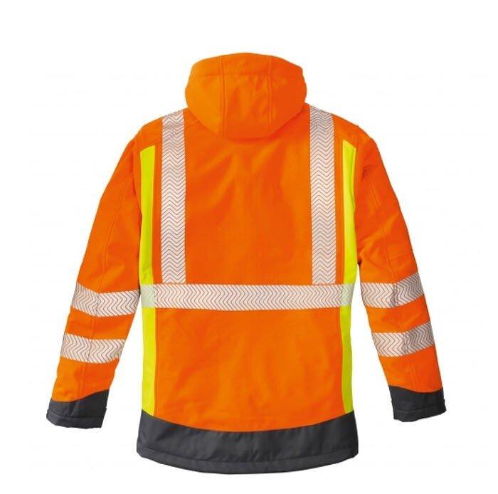 4Protect Hi-Vis signaal softshell jack Houston oranje 1