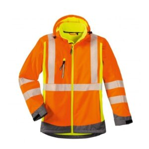 4Protect Hi-Vis signaal softshell jack Houston oranje