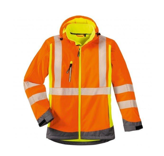 4Protect Hi-Vis signaal softshell jack Houston oranje