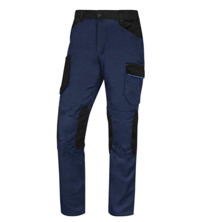 delta plus mach iii werkbroek polyester katoen blauw