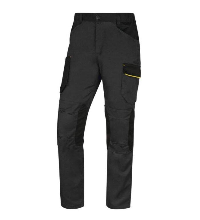 delta plus mach iii werkbroek polyester katoen grijs geel