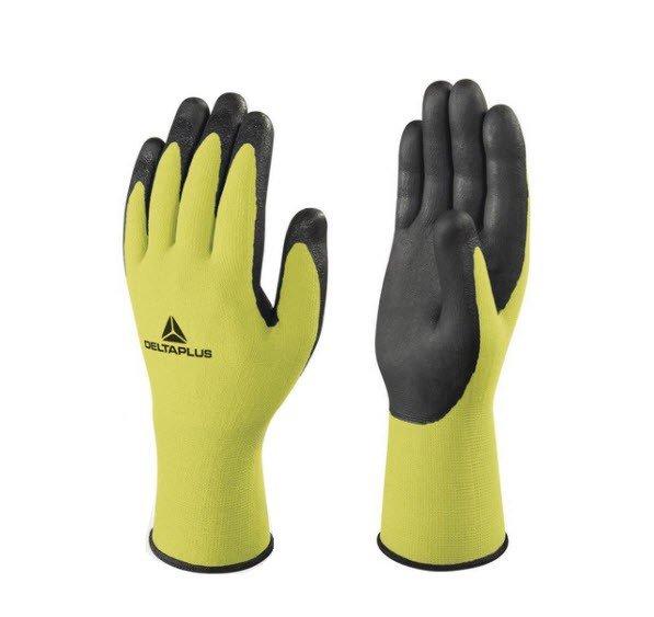 DeltaPlus Gebreide handschoen polyester met schuim TPU