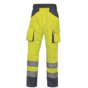 DeltaPlus Hi-vis MAch werkbroek polyester-katoen geel