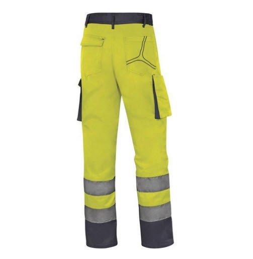 DeltaPlus Hi-vis MAch werkbroek polyester-katoen geel b