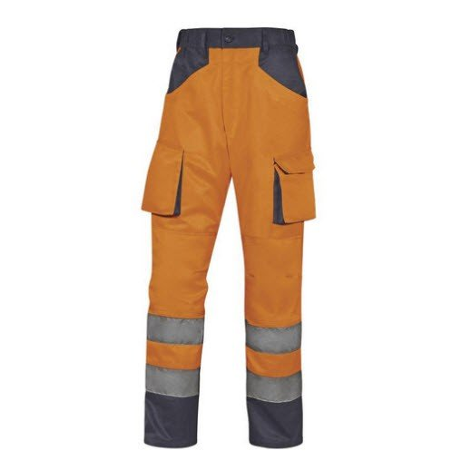 DeltaPlus Hi-vis MAch werkbroek polyester-katoen oranje
