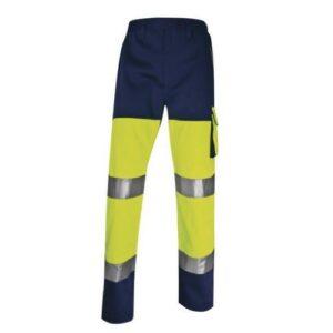 DeltaPlus Hi-vis Panostyle werkbroek polyester-katoen geel