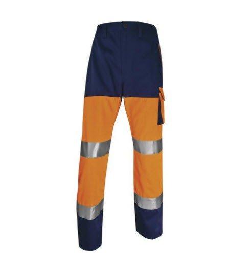DeltaPlus Hi-vis Panostyle werkbroek polyester-katoen oranje