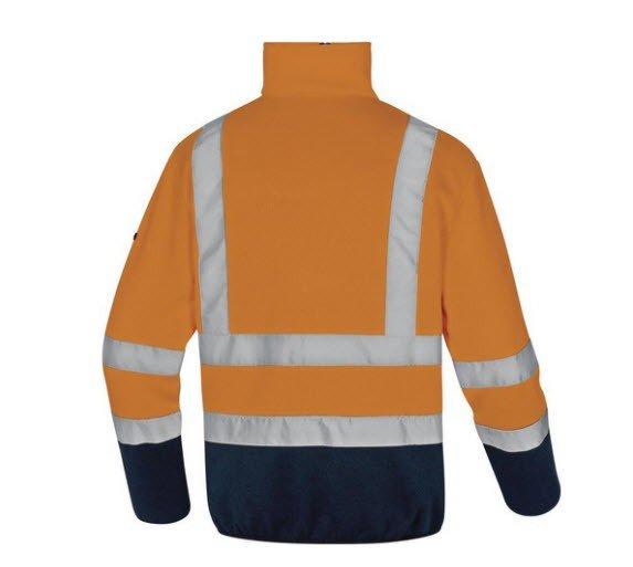 DeltaPlus Hi-vis fleece trui Gebreid met rits oranje 2