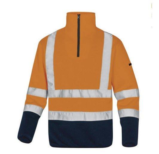 DeltaPlus Hi-vis fleece trui Gebreid met rits oranje