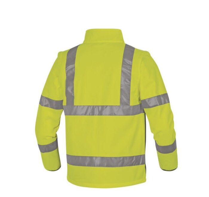 DeltaPlus Hi-vis softshell jas stretch 2in1 geel 2