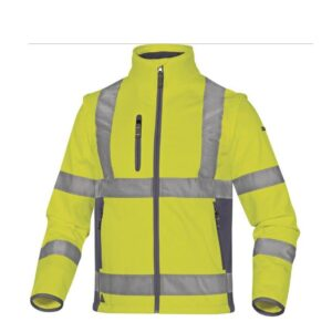 DeltaPlus Hi-vis softshell jas stretch 2in1 geel
