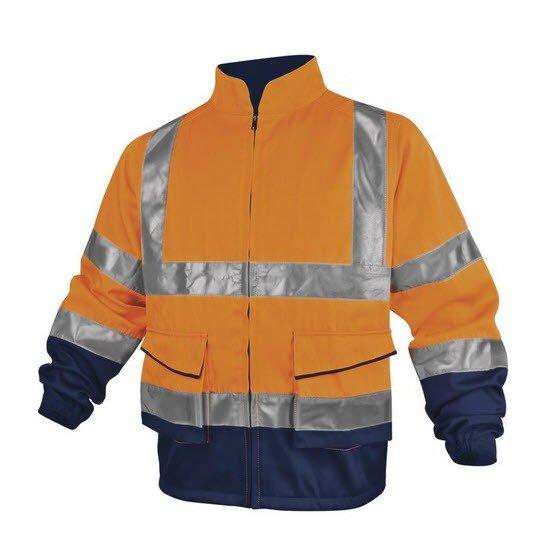 DeltaPlus Hi-vis werkjack polyester-katoen geel oranje
