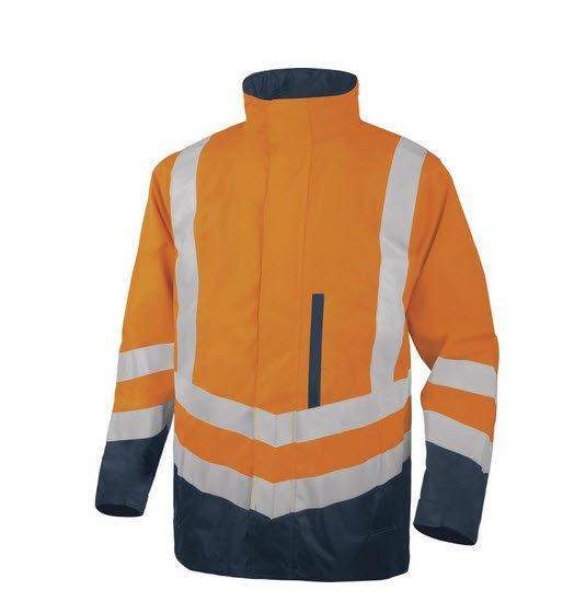 DeltaPlus Hi-vis werkparka PU gecoat 4in1 oranje