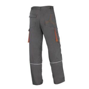 DeltaPlus Mach II werkbroek - Polyester-katoen grijs-oranje -2