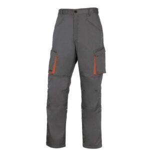 DeltaPlus Mach II werkbroek - Polyester-katoen grijs-oranje