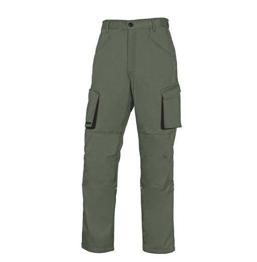 DeltaPlus Mach II werkbroek - Polyester-katoen groen-zwart