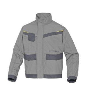 DeltaPlus Mach werkjas - Ripstop Polyester-katoen grijs