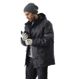 DeltaPlus Parka jack ribstof met PU coating grijs b