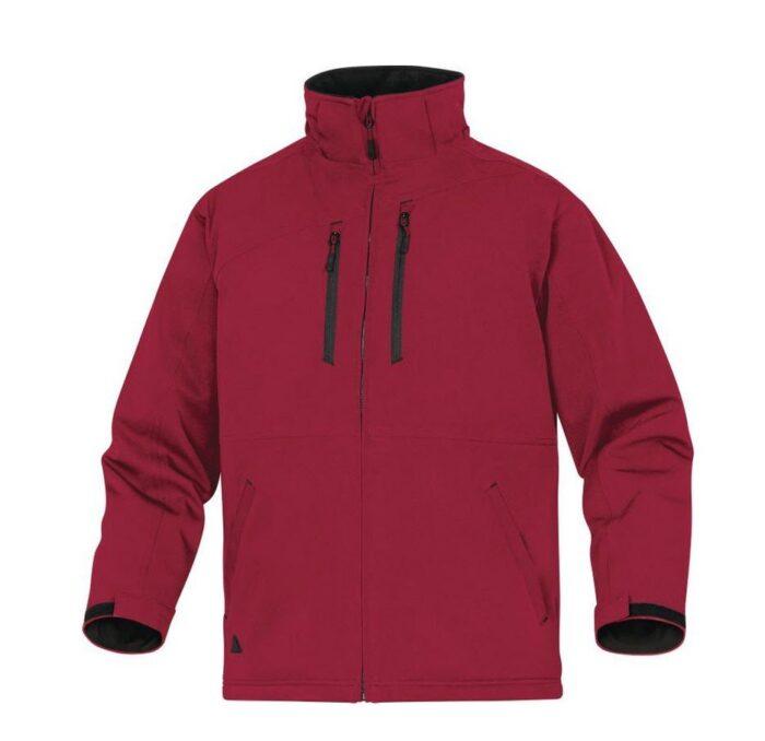DeltaPlus Parka jack waterdicht, stretch, ademend rood
