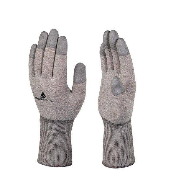 DeltaPlus anti statische gebreide handschoen PU coat op toppen